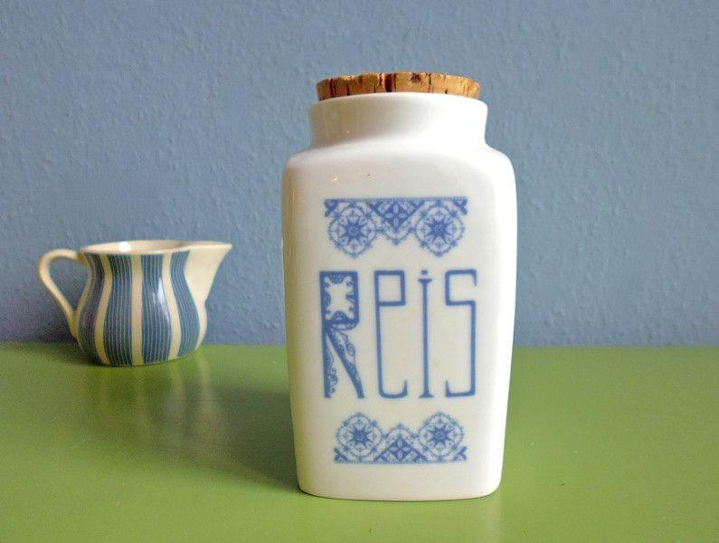 Antike+große+Reis+Porzellan+Jugendstil+Dose+von+ILoveSparrows+auf+DaWanda.com