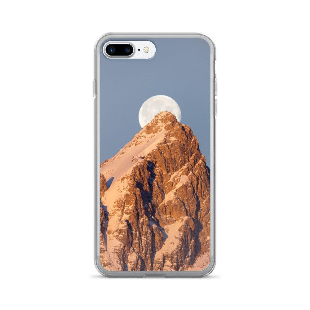 iPhone 7/7 Plus Case with full moon setting over Grand Teton Mountain.