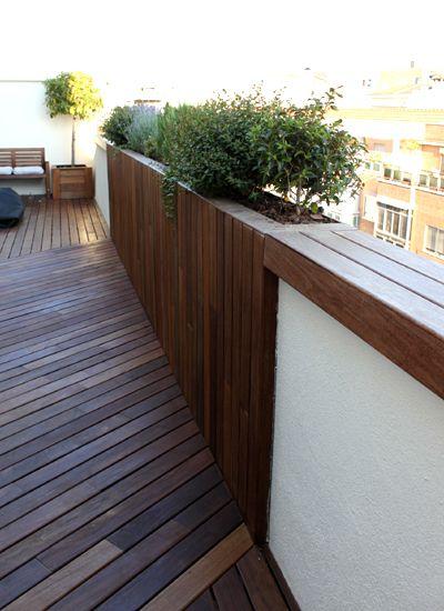 Jardin de diseño en terraza terraza del frente Pinterest