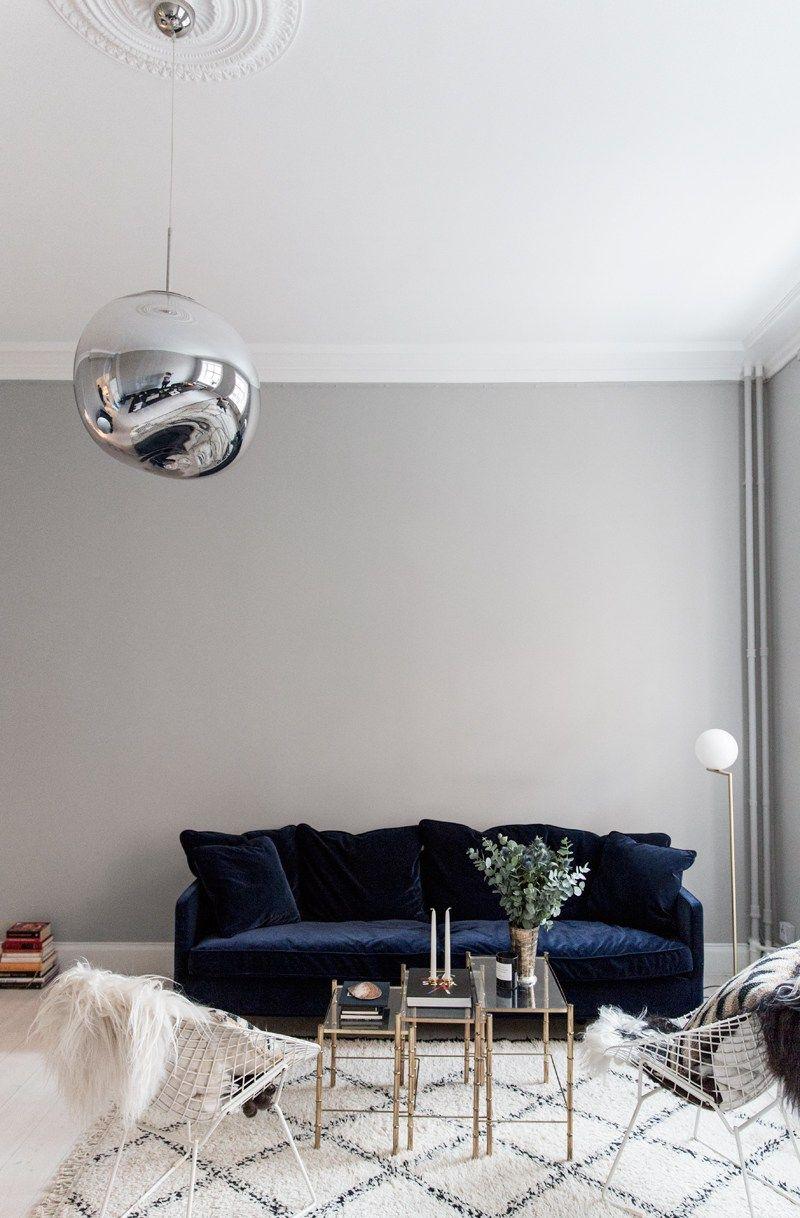 Blue Velvet Sofa Julia Couch by Posh