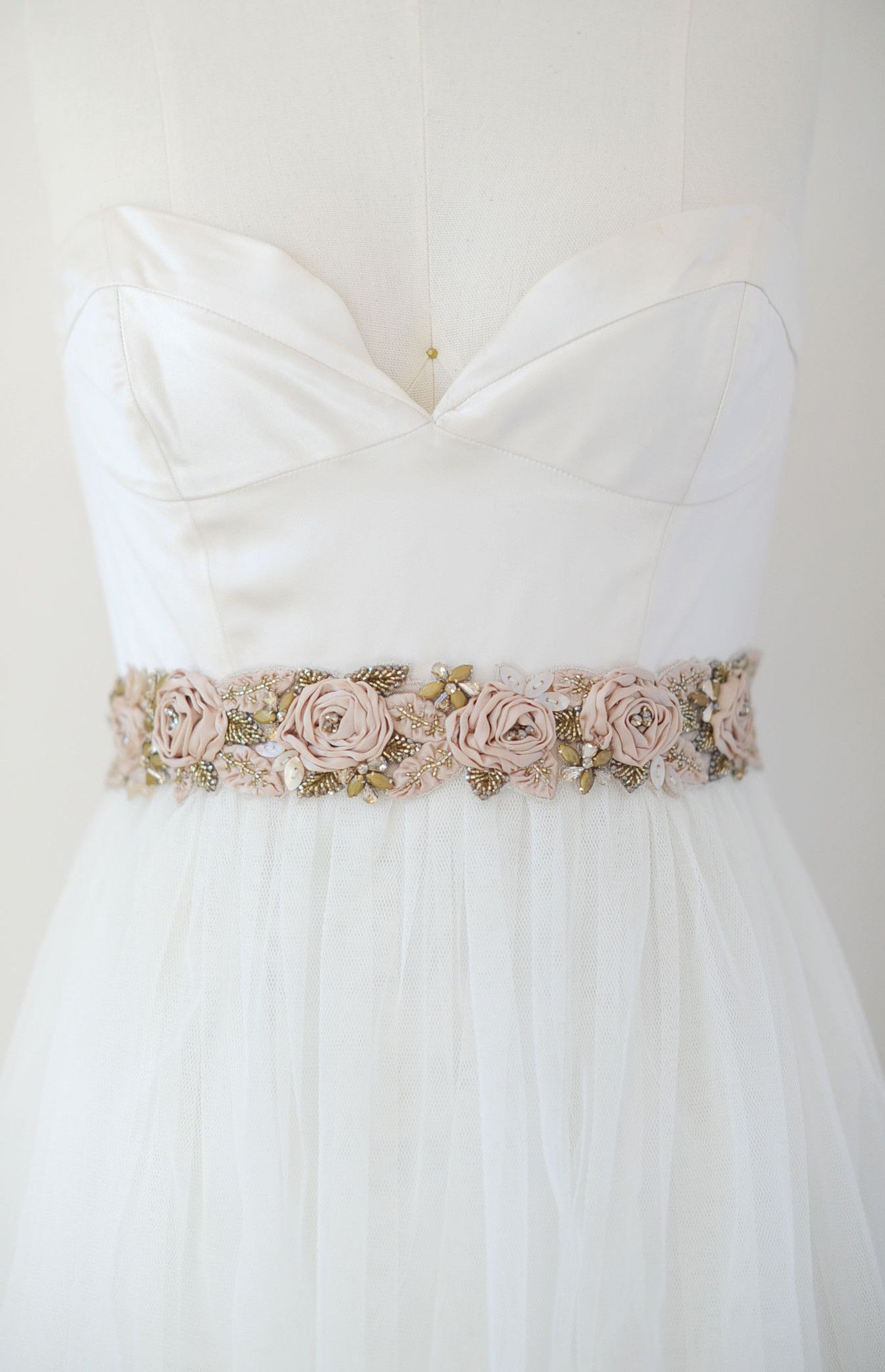 Antique silk rose and crystal headwrap/sash - Style #550 | Themed ...