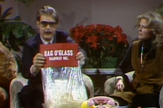 Hilarious Sketches Consumer Probe Dan Aykroyd As Sleazy Toymaker Irwin Mainway Who Peddled Such Decidedly Unsafe Children S Products Bag O Glass