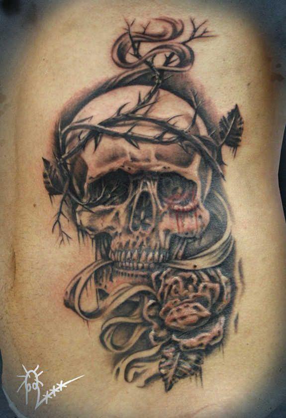 Crazy skull tattoos 119 badass crazy skull tattoos and for Non ducor duco tattoos designs