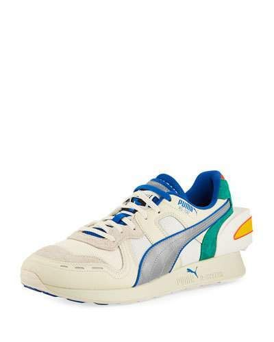 19b3b591c721 Puma Men s Ader Error Colorblock Leather Trainer Sneakers