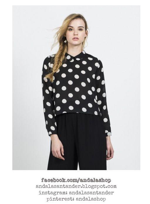 Camisa de lunares en blanco y negro 29.90 €