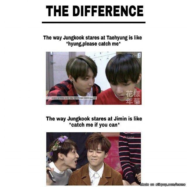 The Difference Between Taekook And Jikook Allkpop Meme Center Bts Funny Kpop Memes Bts Bts Vkook
