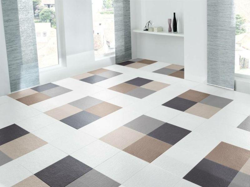 Blue Gray Vinyl Floor Mat Oriental Maroccan 0