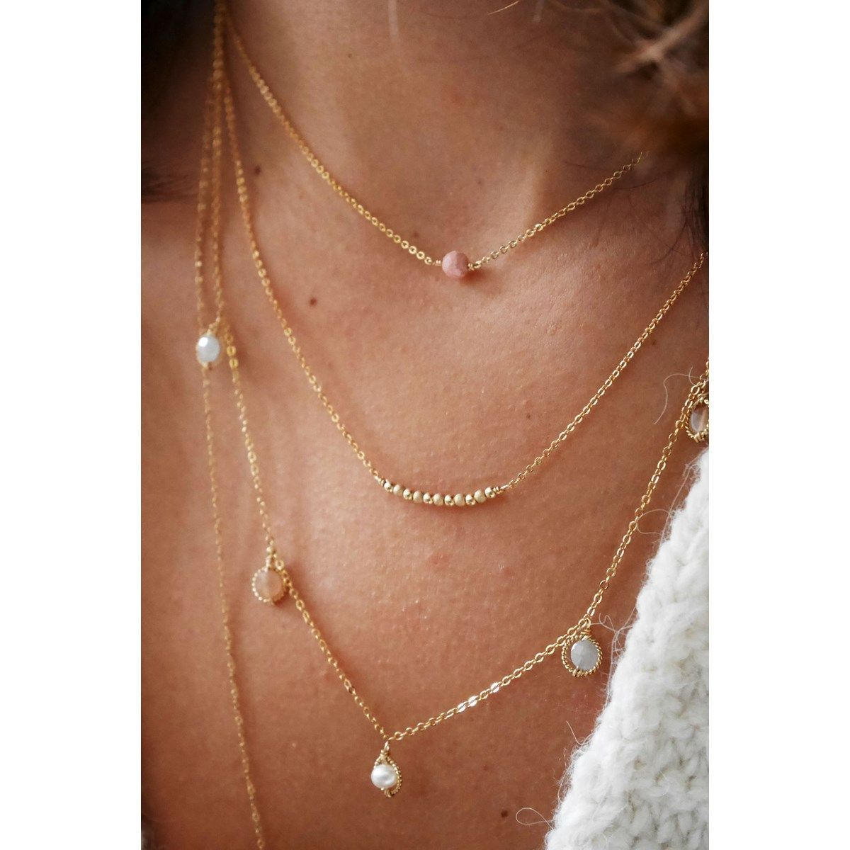 collier simple or