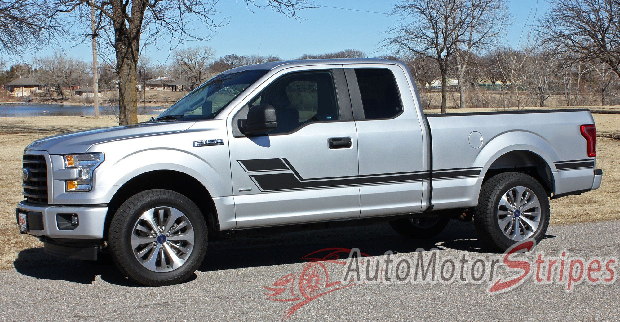 Ford F-150 Side Vinyl Graphics Kit Hockey FORCE Decals Stripes for 2015-2018