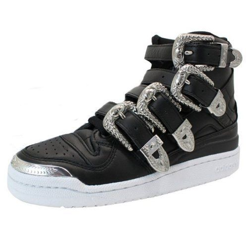 buy online eabf4 bc4a8 Adidas Adidas Jeremy Scott Men s JS Forum Hi ObyO Shoes-Black WhiteThe Adidas  Jeremy Scott JS Forum Hi ObyO is part of the exclusive Collaboratio .