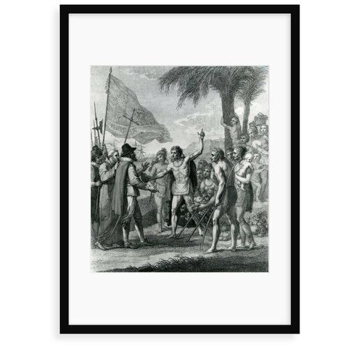 Astoria Grand Poster An Indian Cacique of the Island of Cuba Addressing Columbus Concerning a Future State | Wayfair.de