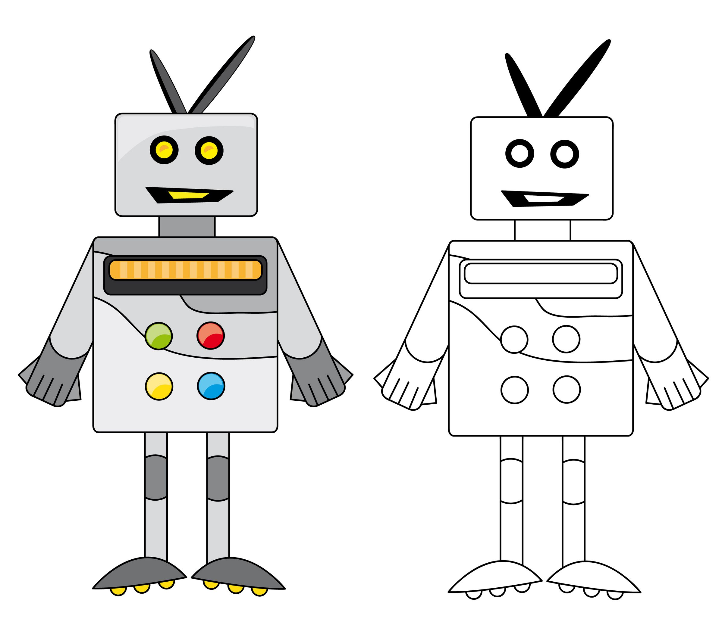 Robot Coloring Page With Images