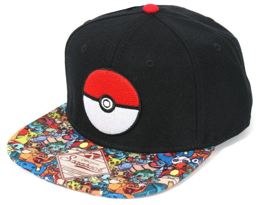 edee2cb459210 Pokemon- Pokeball Sublimated Snapback Hat Size ONE SIZE