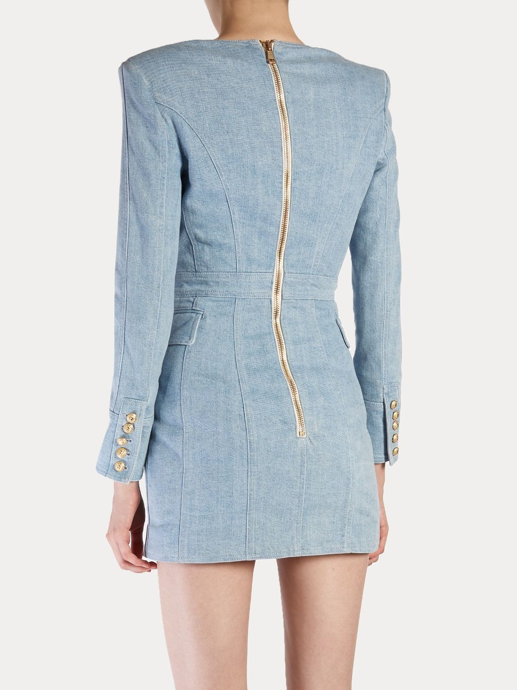 where to buy best place new styles Click here to buy Balmain Double-breasted denim dress at ...