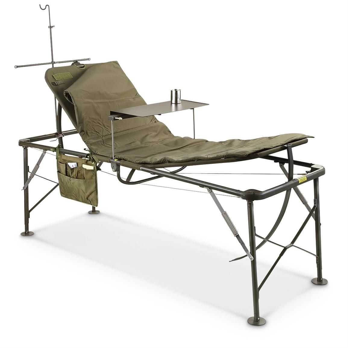 hospital chairs that convert to beds chair covers for couch us military surplus foldable field bed cot