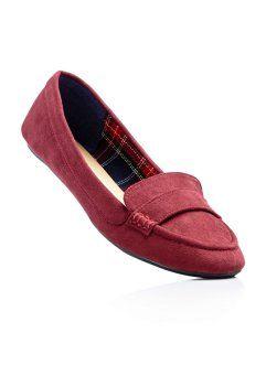 newest collection watch temperament shoes Ballerines en cuir, bpc bonprix collection, rouge ...