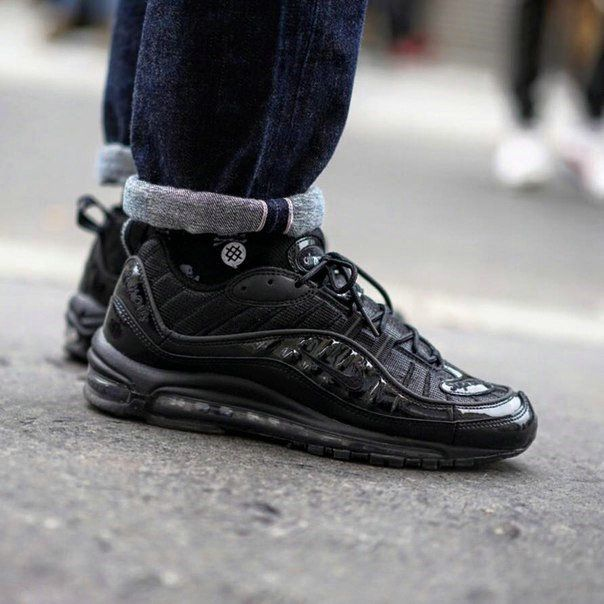 cee6fc52018c How To Buy Supreme X Nike Air Max 98 Blackout On Feet Sneaker Air Max 270.  Visit