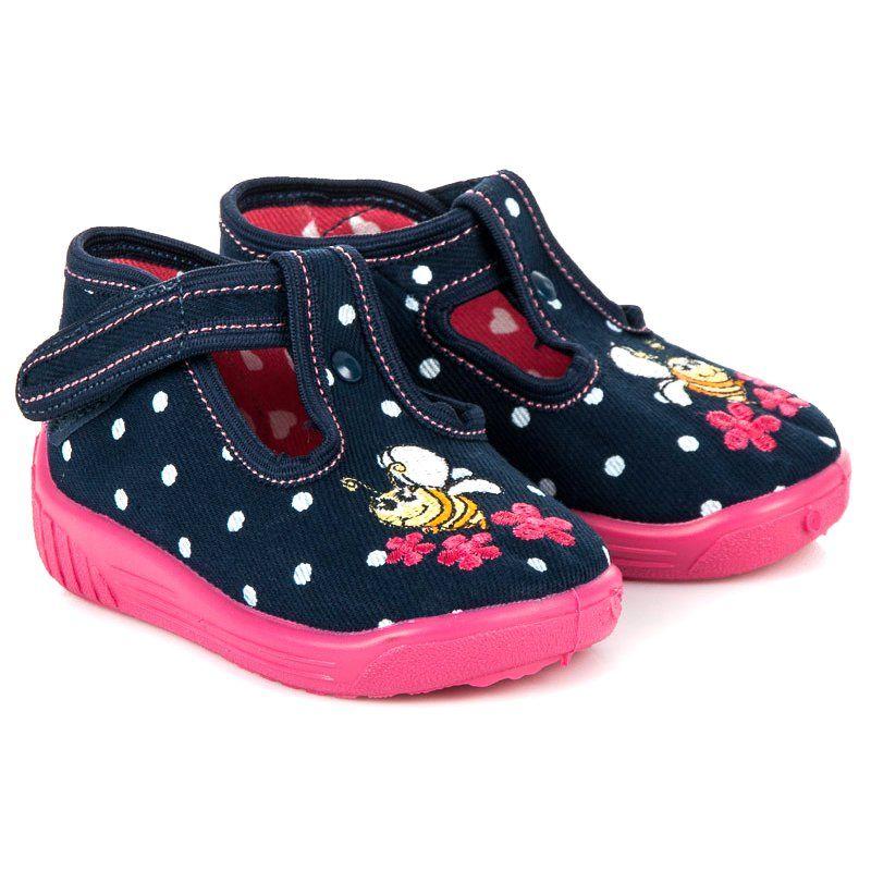 Kapcie Dzieciece Dla Dzieci Reweks Niebieskie Obuwie Na Rzep Reweks Baby Shoes Shoes Fashion