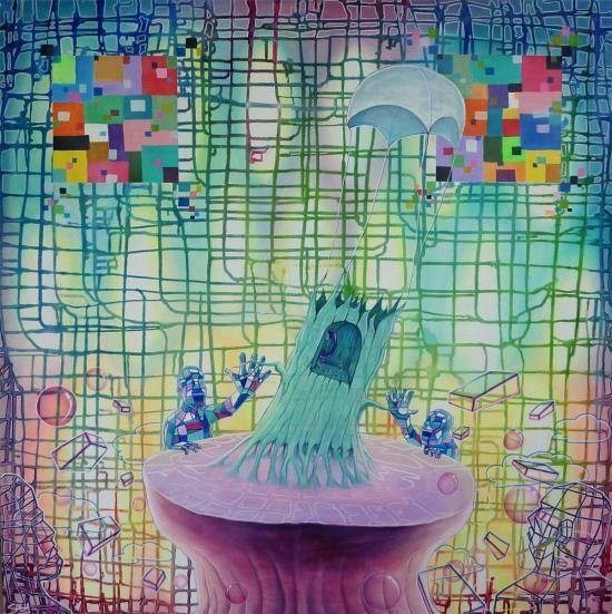 www.artunika.dk / www.artunika.com In Touch With Nature - 100 x 100. Et stort originalt maleri af kunstmaler Saaby.   Saaby er en kunstner der har fået meget opmærksomhed den seneste tid. Saaby vandt i 2009 en pris for bedste udsmykning, som blev overrakt af overborgmester Frank Jensen. Og ...