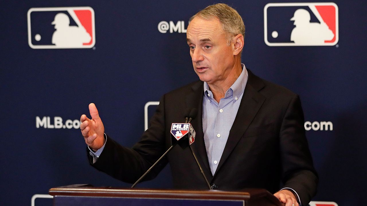 Mlb Commissioner Rob Manfred We Owe It To Our Fans To Be Better Hello Kitty Cake Hello Kitty Cake Wedding Cakes In 2020 Camo Wedding Cakes Dragon Cakes Shoe Cakes