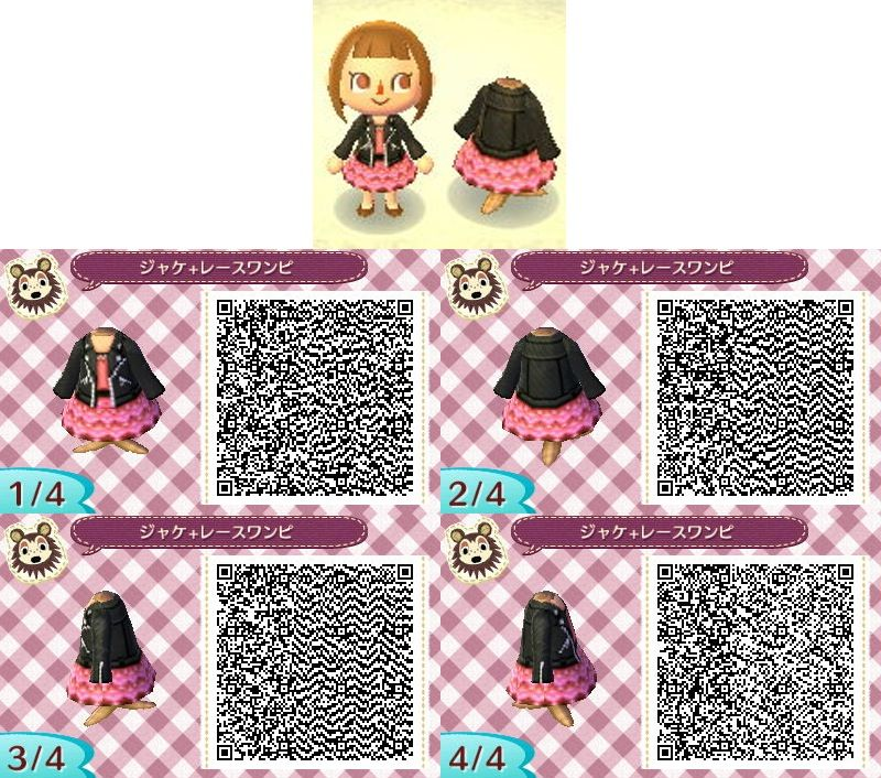 Cute frilly dress black leather jacket animal crossing qr for Carrelage kitsch animal crossing new leaf