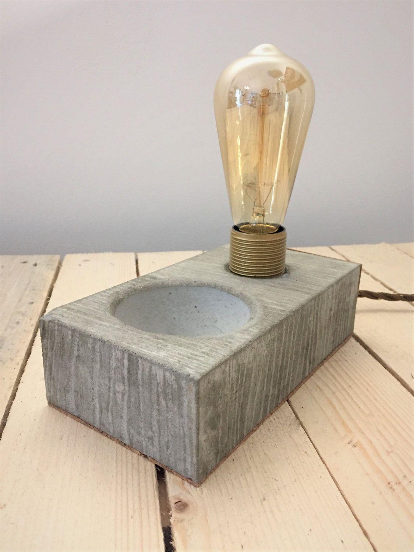 Lampada in cemento Arredo casa ufficio Lampada LED a