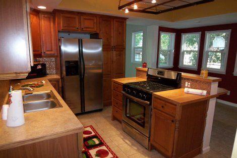 Freestanding Range In Island Less House In 2019 Kitchen