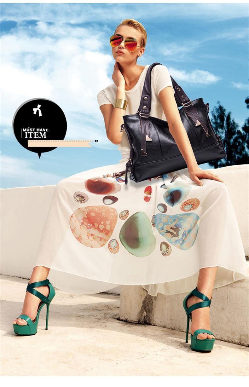 Hot Genuine Leather Bag Fashion Lichee Pattern Shoulder Bags Bolsas Femininas New Women Handbag Trendy Women Messenger Bags Tote - Fashionaudience.com