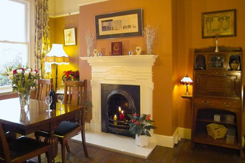 Here Are Some Dining Space Ideas That Weve Designed Edwardian Room Design Featuring Reclaimed Fireplace