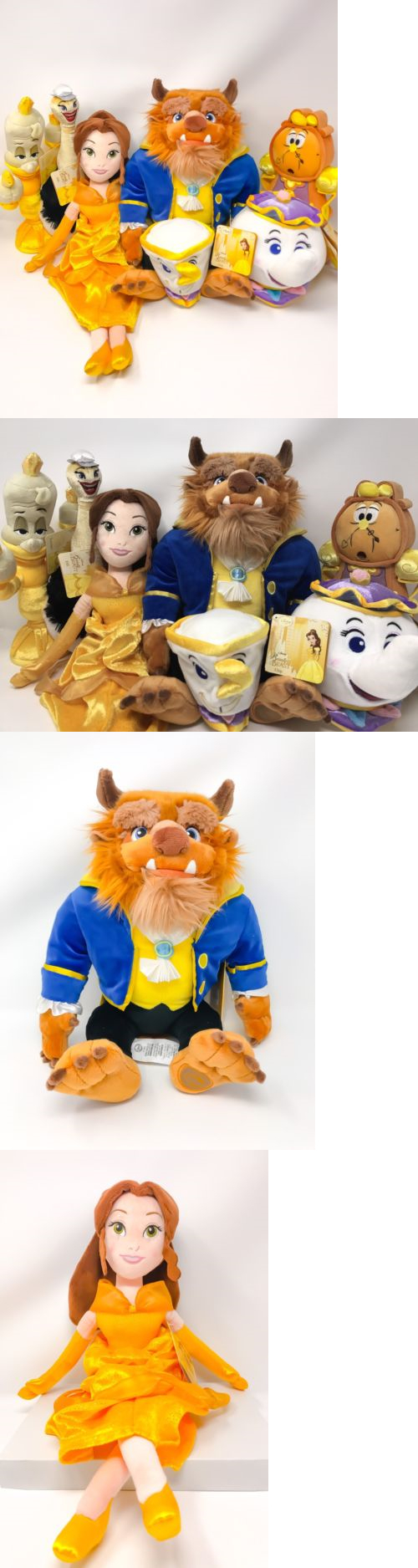 Beauty and the Beast 44033: Disney S Beauty And The Beast Deluxe Plush Complete Set Of 7 (New) Belle, Beast, -> BUY IT NOW ONLY: $153 on eBay!