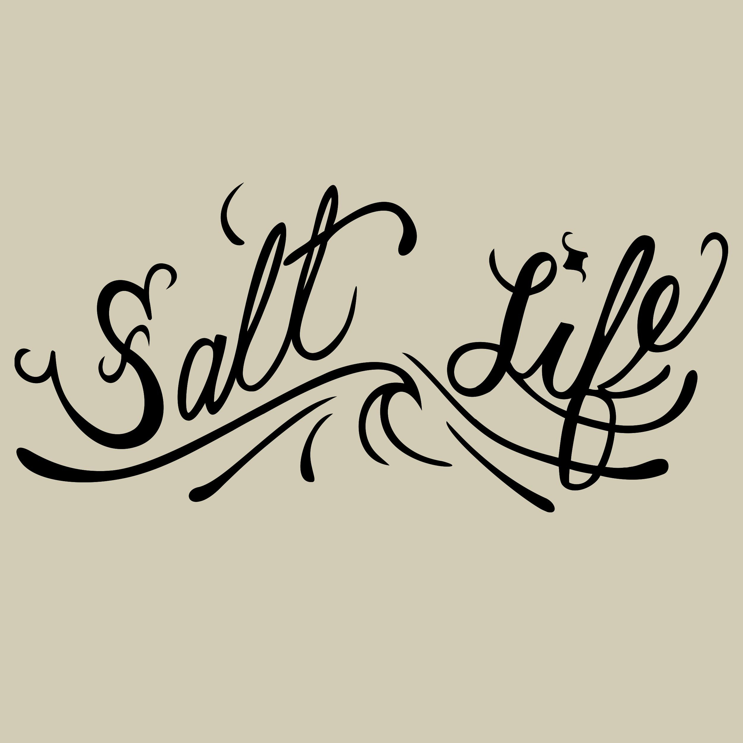 Salt Life Og Small Decal Salt Life Decals Salt Life Vinyl Decals [ 2500 x 2500 Pixel ]