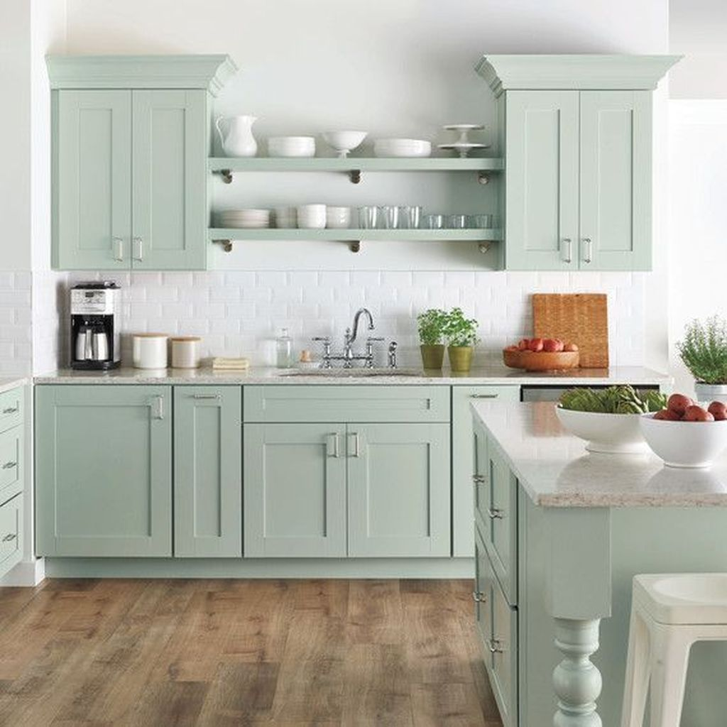 44 Stunning Robins Egg Blue Kitchen Ideas Best For Your Smooth House Design Popy Home Home Depot Kitchen Cottage Kitchen Design Green Kitchen Cabinets