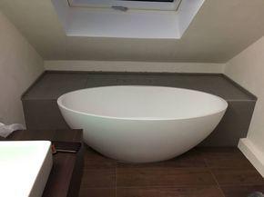 moderne badezimmer bilder einbau dokumentation eines badeloft kunden anhand der freistehenden badewanne bw 04 - Moderne Bder Mit Freistehender Wanne