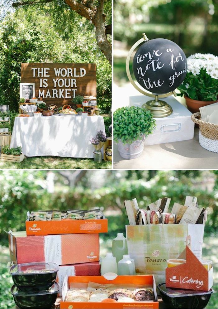 Awesome GRADUATION Party Idea The World Is Your Market Via Panera Bread And Evite On Karas Ideas