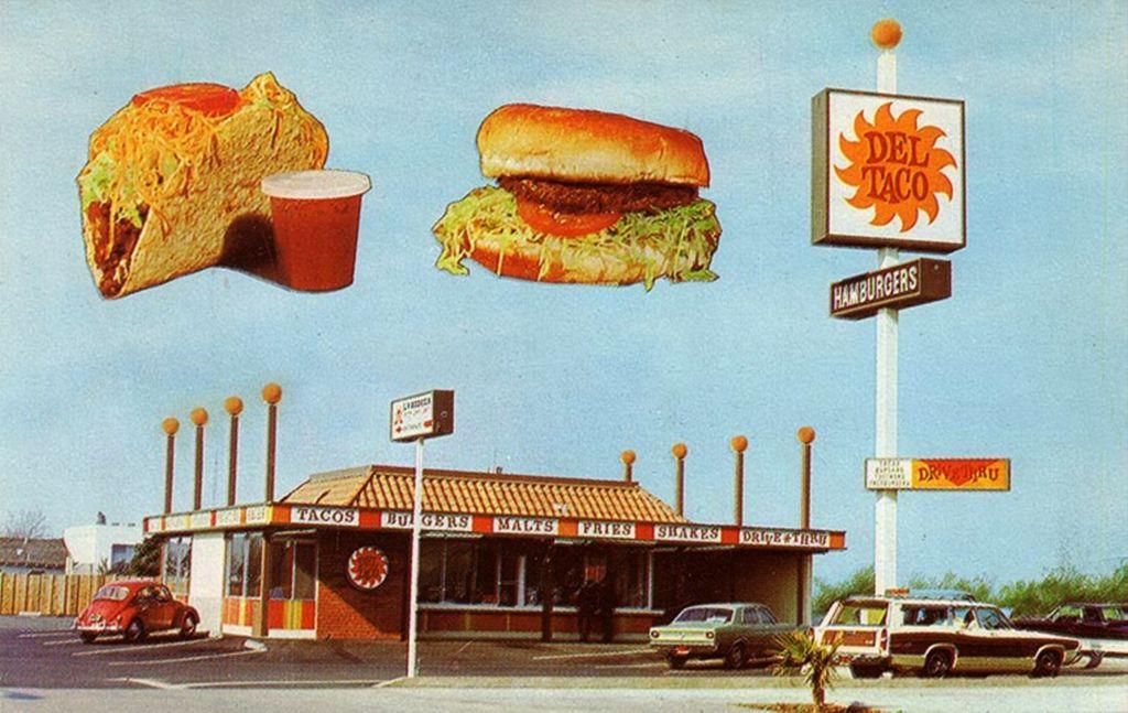 A postcard coupon for del taco in stanton california