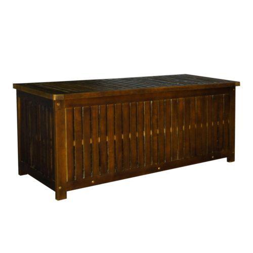Gartenkiste Kissenbox Waeschetruhe Aus Akazienholz 130 Cm Inkl Regenschutzhuelle Kissenbox Gartentruhe Gartenbox