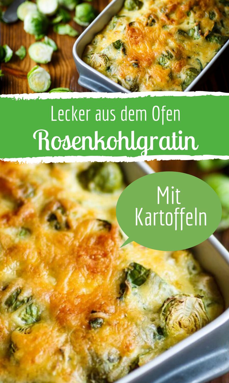 Rosenkohlgratin: Vegetarisches Rezept mit Kartoffeln #cookingrecipes