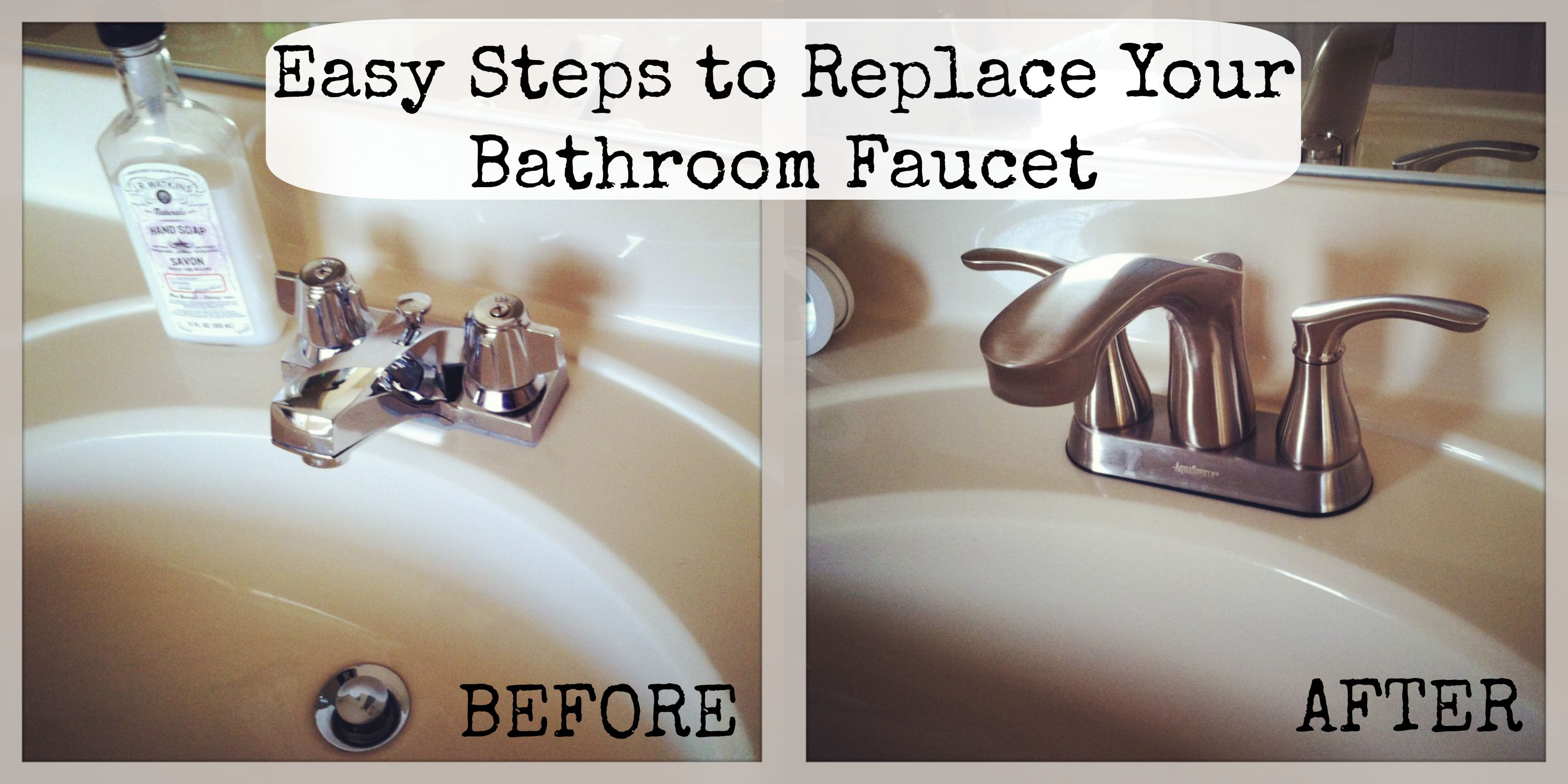 how to replace bathroom faucet | For the Home | Pinterest | Faucet ...