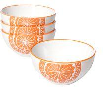 """Walmart: Simplemente Delicioso Mosaico Naranja 6"""" Bowls, Orange, Set of 4"""