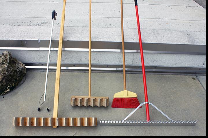 Japanese Zen Garden Tools Tools For Karesansui Raked Sand Garden