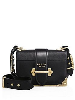 aa9391d3ff12 Prada - Cahier Notebook Leather Shoulder Bag