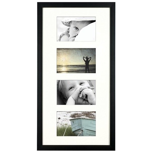 Tribeca Black 4 Opening Collage Frame 30 Liked On Polyvore Featuring Home Home Decor Frames Black Collage Frames 4 Picture Frames Frames On Wall Frame 4 opening picture frame 4x6