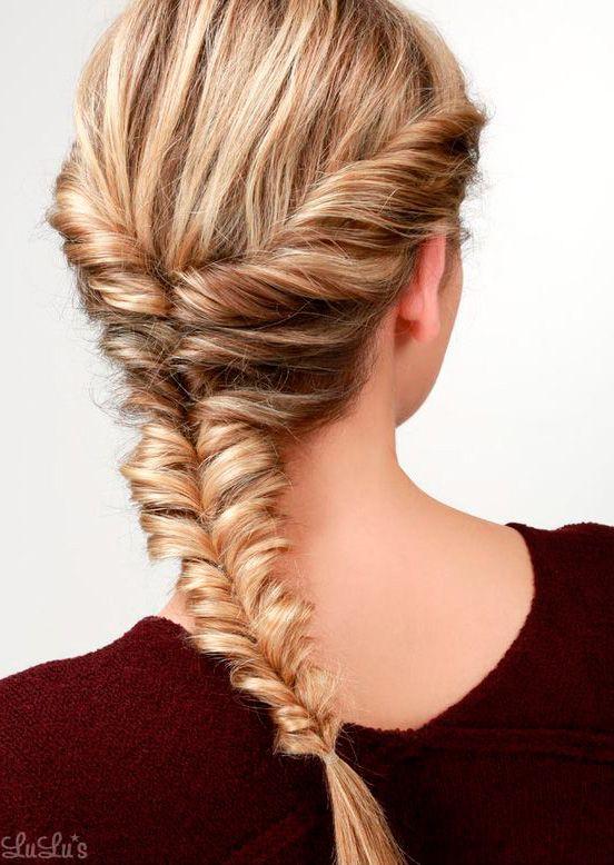 43 Peinados para Damas de Honor e Invitadas de la Boda Trenza cola