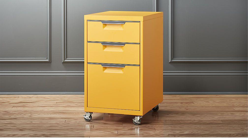 Modern · TPS Marigold 3 Drawer Filing Cabinet ...