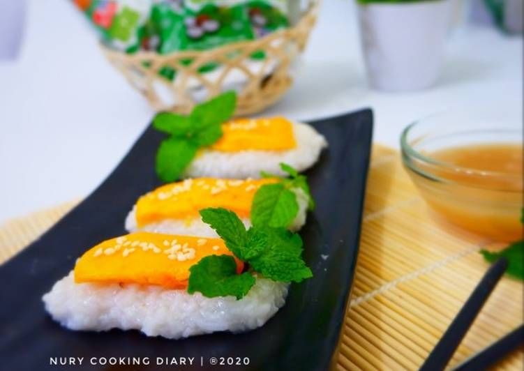 Sushi Mango Sticky Rice Sticky Rice Mango Sticky Rice Sticky Rice Recipes