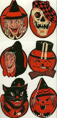 Vintage Halloween Decorations 🎃 Vintage Halloween Pinterest - halloween decorations vintage