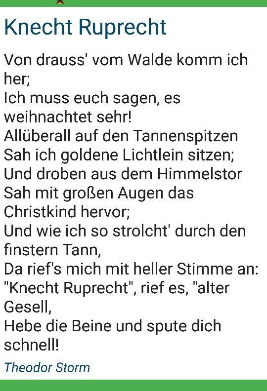 Pin Von Sonja Taylor Auf Christmas In Germany Gedicht