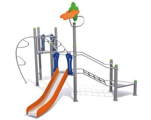 Rutsche Für Kletterbogen : Spielturm metallic iv mit rutsche und klettermöglichkeiten u für