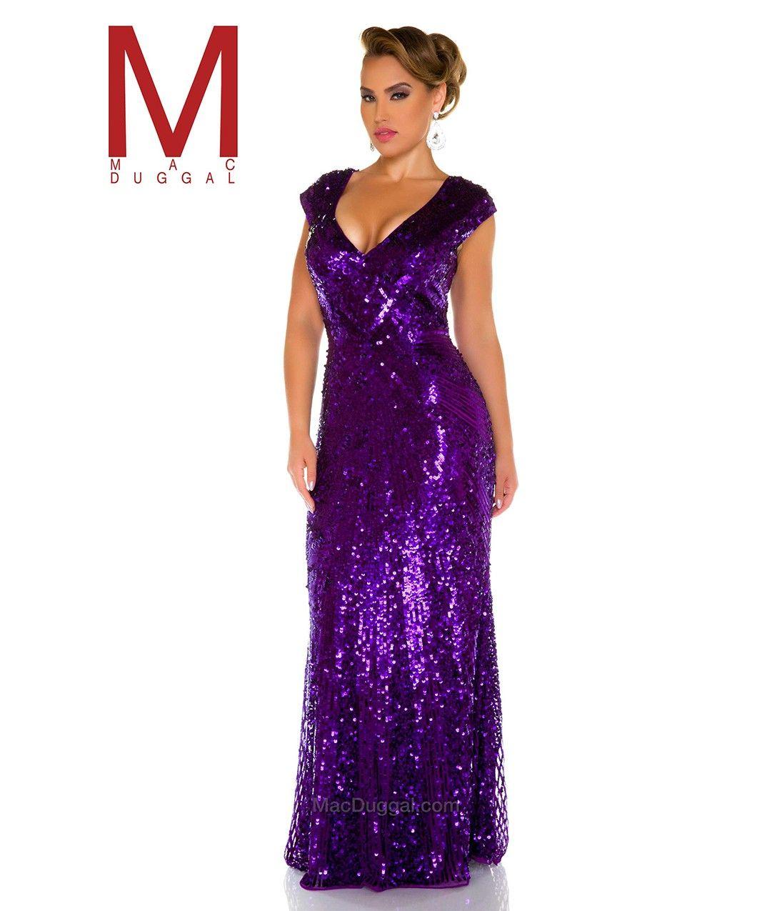 deep purple sequins full length plus size gown | lovely lavender