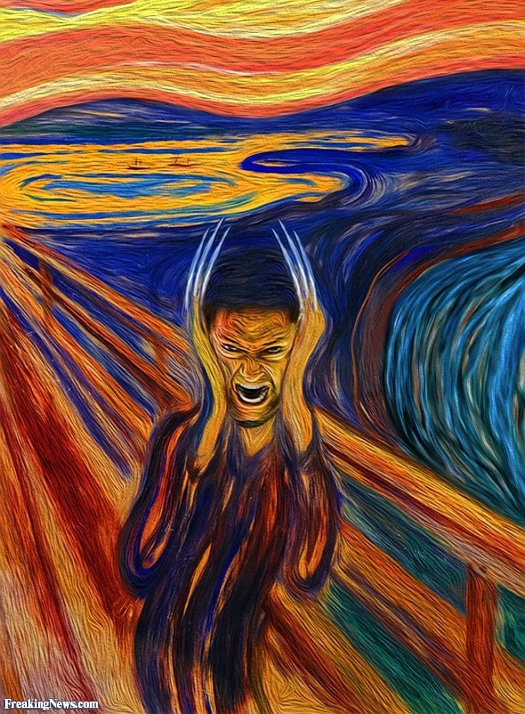 amazoncom the scream of nature edvard munch art print - 736×1000